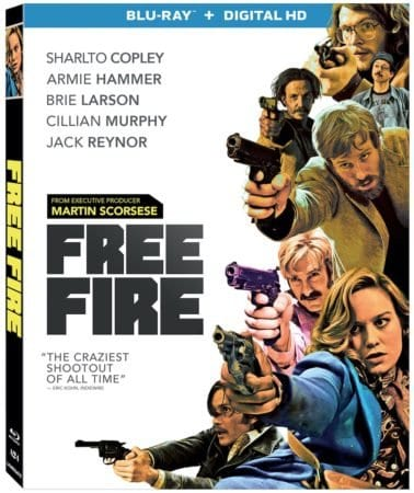 FREE FIRE – Starring Brie Larson and Armie Hammer – Arrives on Blu-ray and DVD July 18 1