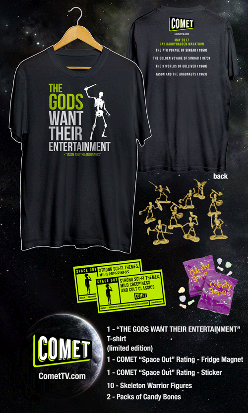 COMET TV is throwing down with Harryhausen in May. Plus, see how you can win some swag. 1