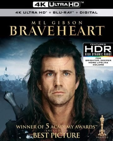 BRAVEHEART and GLADIATOR explode onto 4K Ultra HD May 15th 1