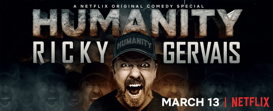 Ricky Gervais tackles tough topics in new Netflix clip 1