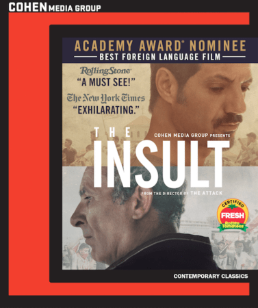THE INSULT Comes to DVD and Blu-ray on 5/1 1