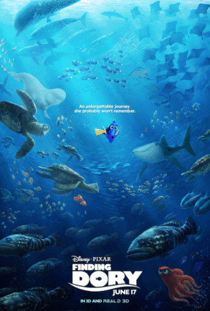 FINDING DORY LANDS A NEW POSTER 1
