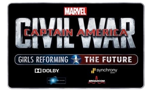 DISNEY AND MARVEL ANNOUNCE THE GRAND PRIZE WINNER OF CAPTAIN AMERICA: CIVIL WAR - GIRLS REFORMING THE FUTURE CHALLENGE 6