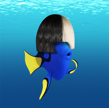 "SIA DIVES IN WITH DORY, SINGING ""UNFORGETTABLE"" END-CREDIT SONG 3"