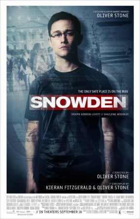 SNOWDEN gets an official trailer and poster! Check out the voice on JGL. 7