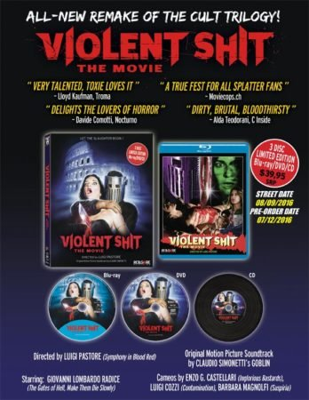 Violent Shit The Movie Coming To A Blu-ray /DVD/ CD Combo In August 5