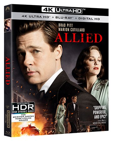 ALLIED debuts on 4K Ultra HD and Blu-ray February 28th and on Digital HD February 14th 1
