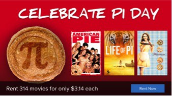 Pi Day Promo from FandangoNOW - Watch LIFE OF PI, SWEENEY TODD and More 3