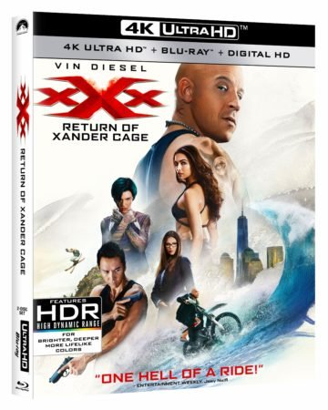 xXx: RETURN OF XANDER CAGE debuts May 16th on 4K Ultra HD/Blu-ray/DVD and on Digital HD May 2nd 1