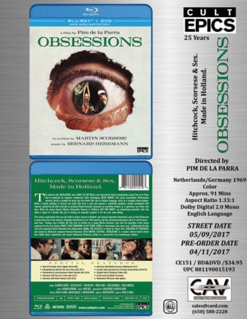 Obsessions - Blu-ray + DVD Combo Arrives From Cult Epics In May 3