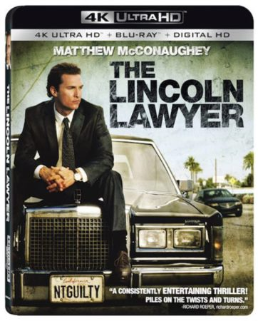 THE LINCOLN LAWYER arrives on 4K Ultra HD Combo Pack (plus Blu-ray and Digital HD) August 15 3