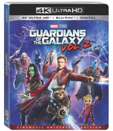 Marvel's Guardians of the Galaxy Vol. 2 on Digitally in HD and 4K Ultra HD on Aug. 8 and 4K Ultra HD and Blu-ray on Aug. 22 7
