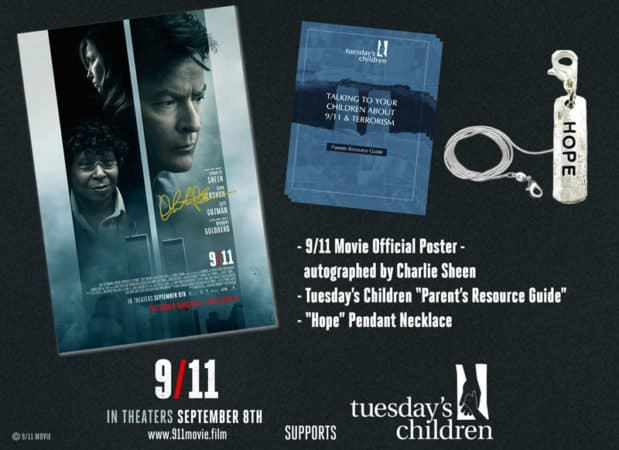 9/11 Contest: Win a Charlie Sheen signed poster! 1
