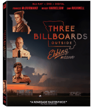 THREE BILLBOARDS OUTSIDE EBBING, MISSOURI is Available on Digital Feb. 13 and 4K, Blu-ray and DVD Feb. 27 7