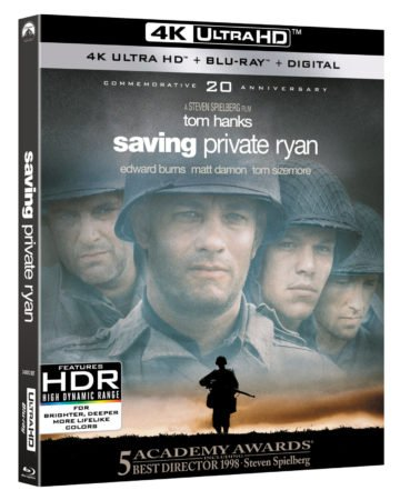 SAVING PRIVATE RYAN debuts on 4K Ultra HD/Blu-ray Combo Pack May 8th 12