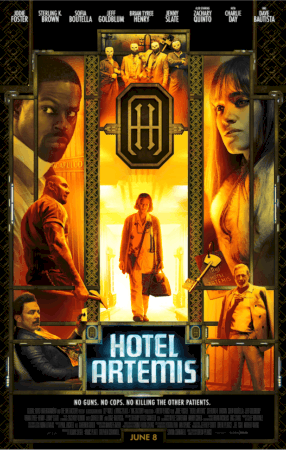 HOTEL ARTEMIS - NEW Posters & Character Trailer - Who's Who in This Amazing Ensemble Cast 5