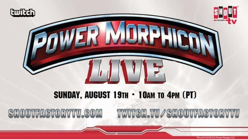 Shout! Factory TV & Twitch to Livestream 'Power Morphicon LIVE' August 19 from the Anaheim Convention Center 1