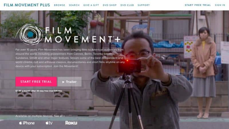 Pioneering Independent Distributor, Film Movement Launches New SVOD Service, FILM MOVEMENT PLUS 7