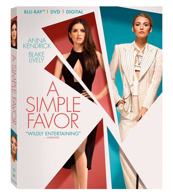A Simple Favor arrives on Digital December 11 and on 4K Ultra HD, Blu-ray™, DVD, and On Demand 12/18
