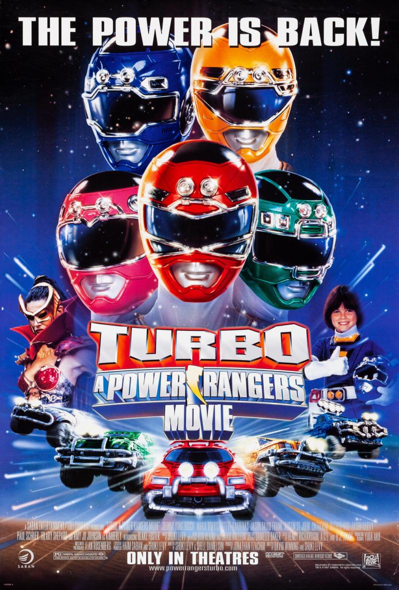 turbo power rangers movie poster