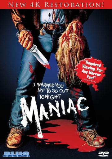 maniac 4K DVD Blu-ray