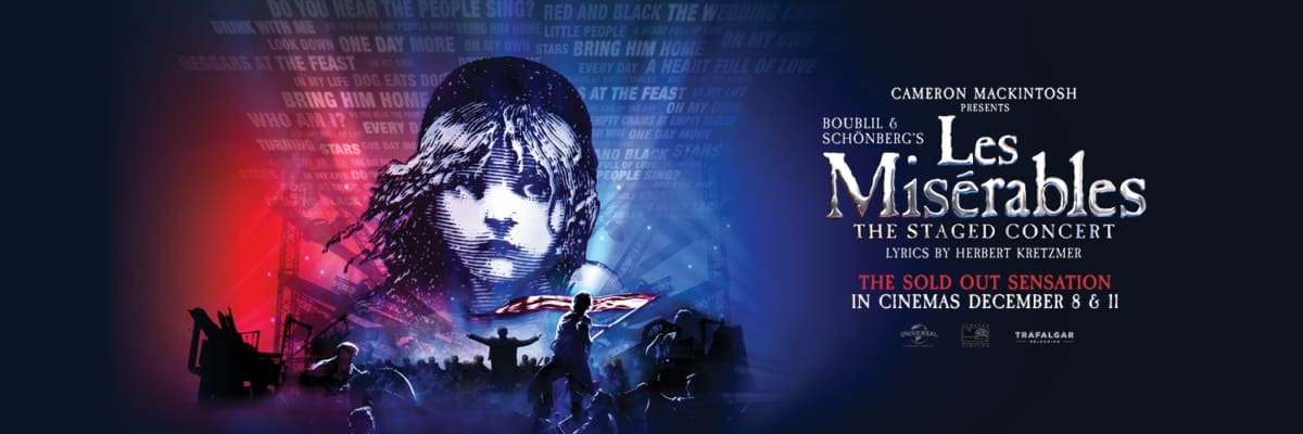 Les Miserables cinema concert feat