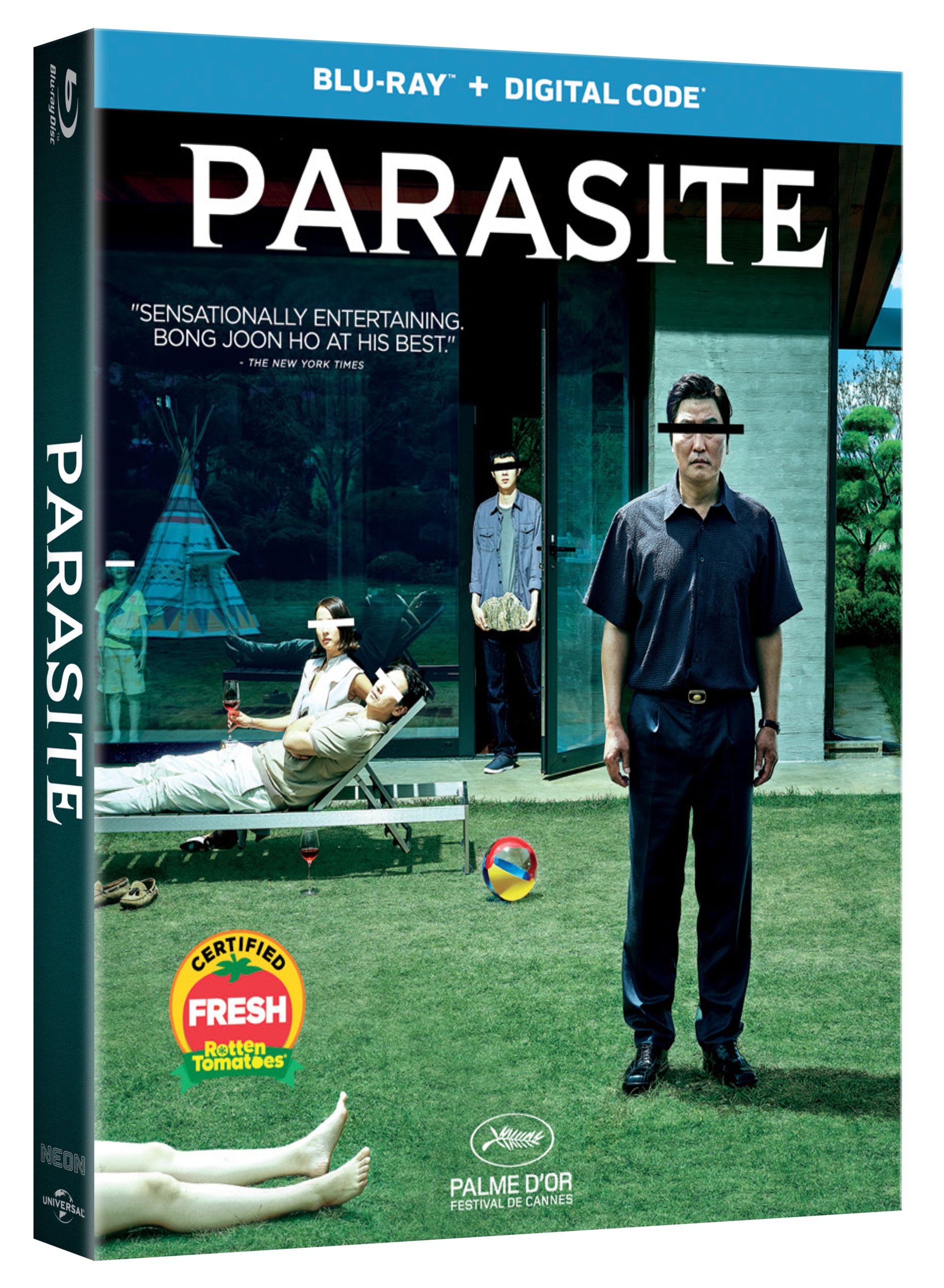 Parasite blu-ray box art
