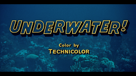 Underwater title Warner Archive blu-ray
