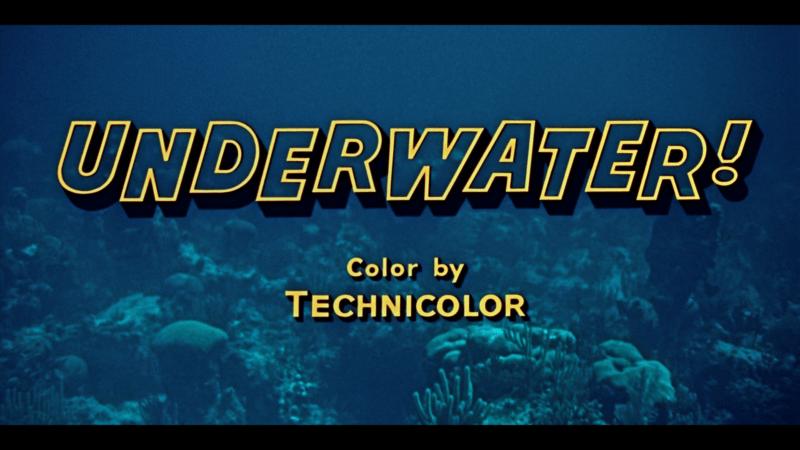Underwater title Warner Archive blu-ray