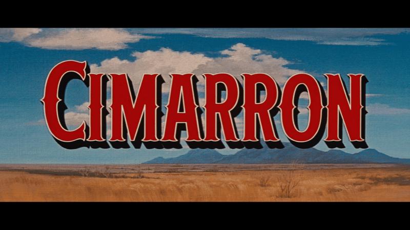 Cimarron 1960 Blu-ray Warner Archive title