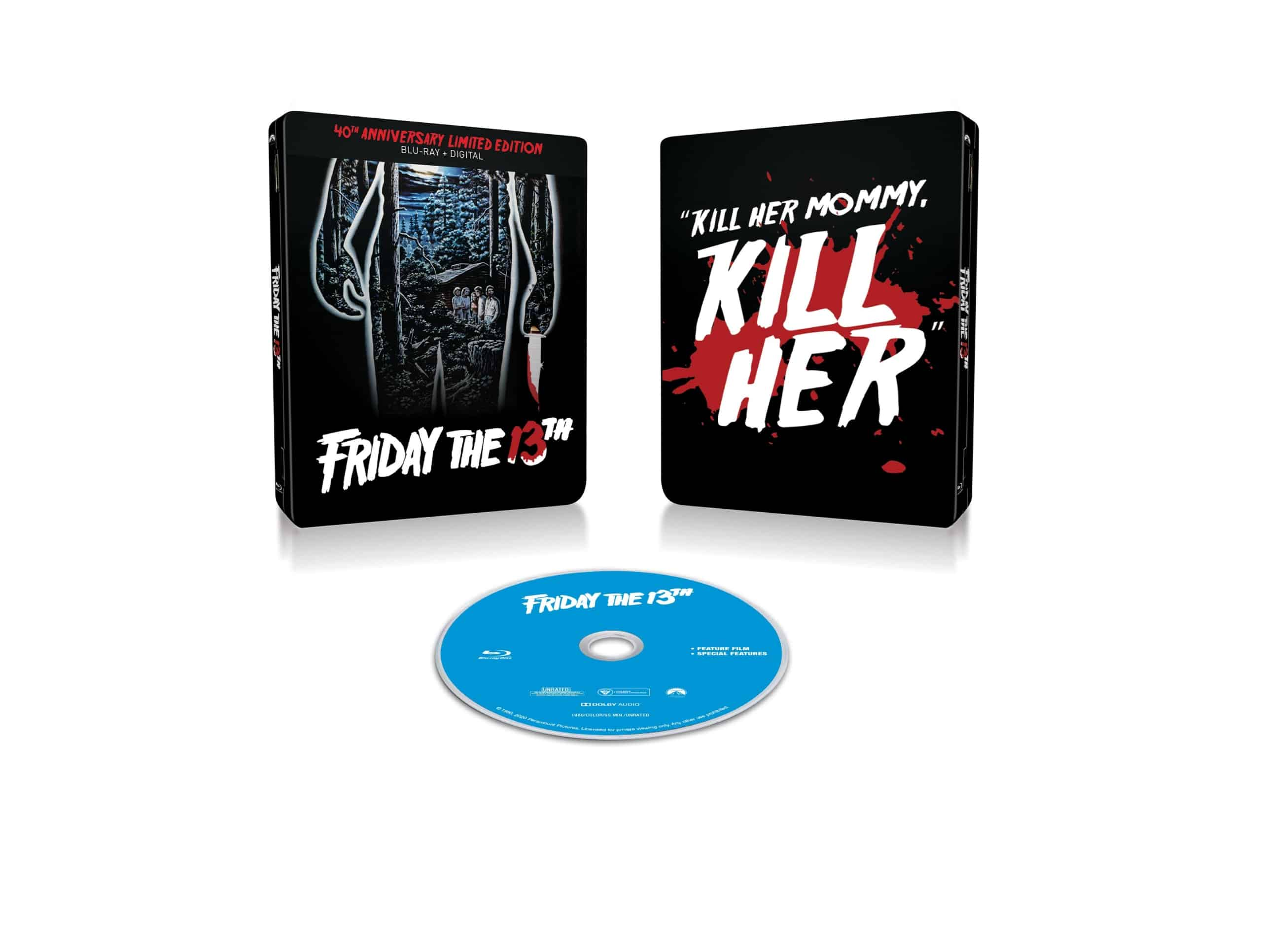 Friday the 13th Blu-ray box art 40th anniversary