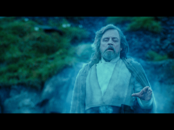 Force Ghost Luke Lift Rise of Skywalker