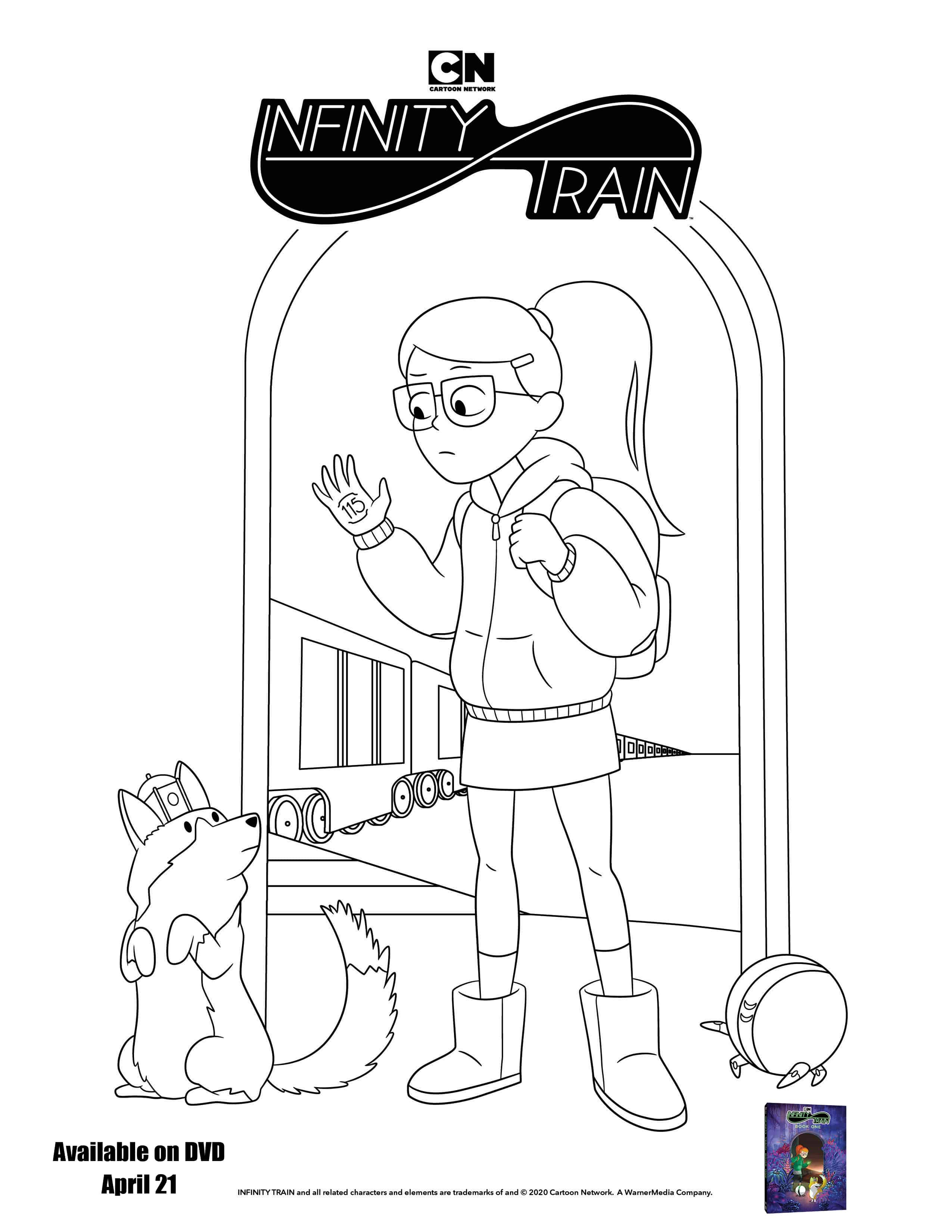 Infinity Train Book One Coloring Sheet from Warner Brothers Productions