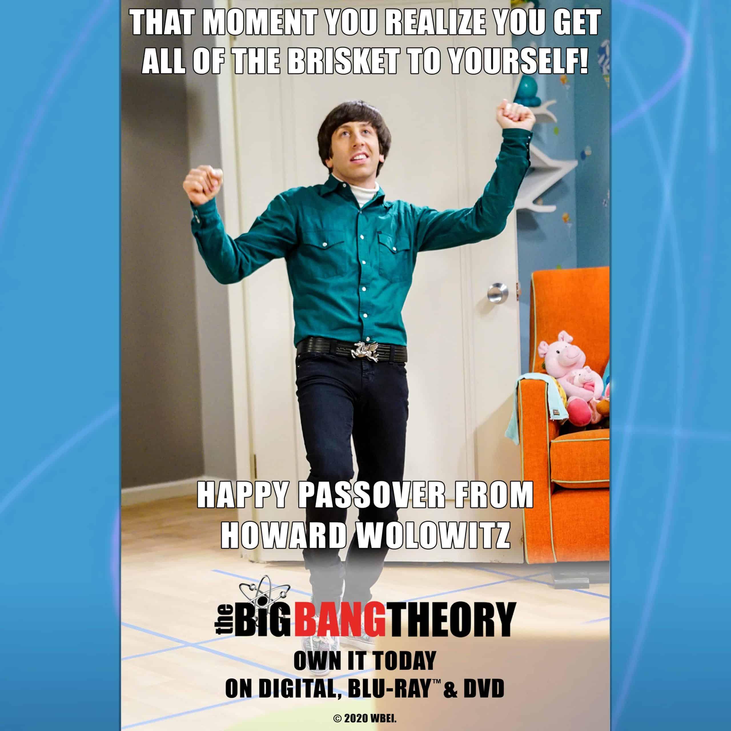 The Big Bang Theory Howard Passover meme