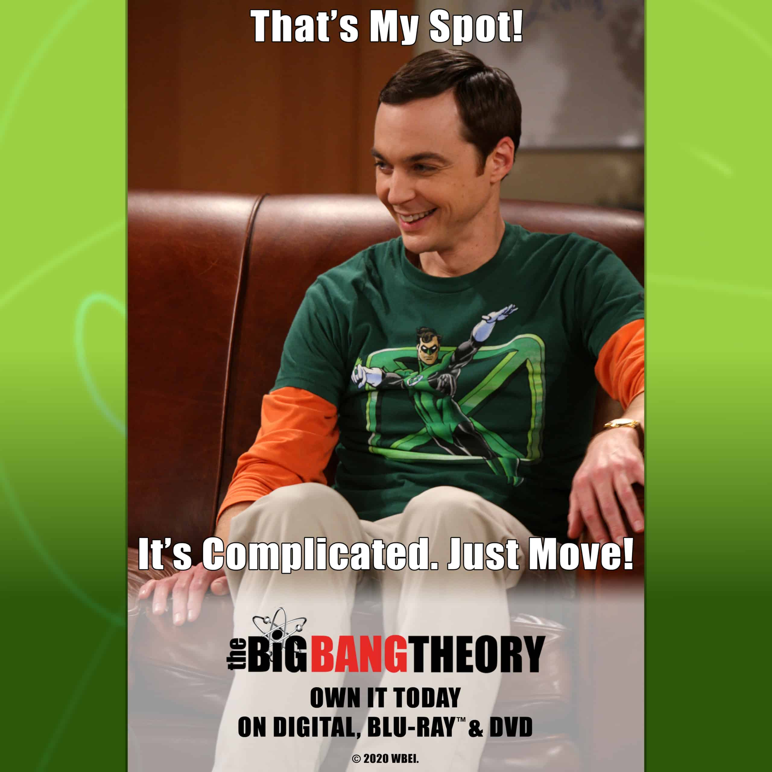 That's My Spot Sheldon Cooper Big Bang Theory Meme AndersonVision exclusive