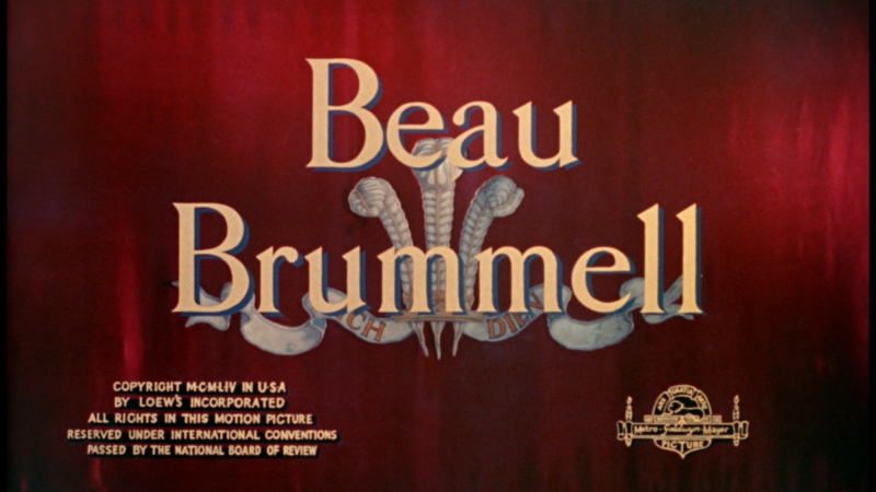 Beau Brummell Warner Archive blu-ray title