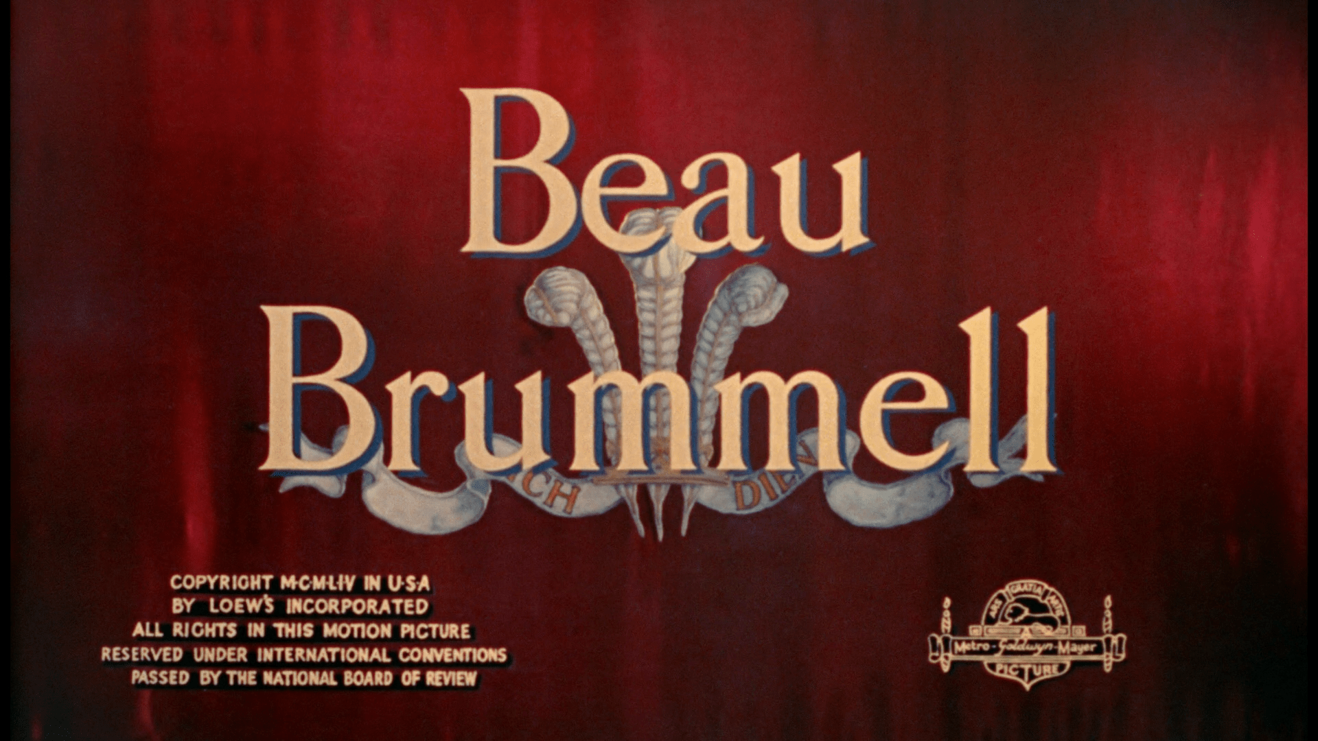 Beau Brummell Warner Archive blu-ray title