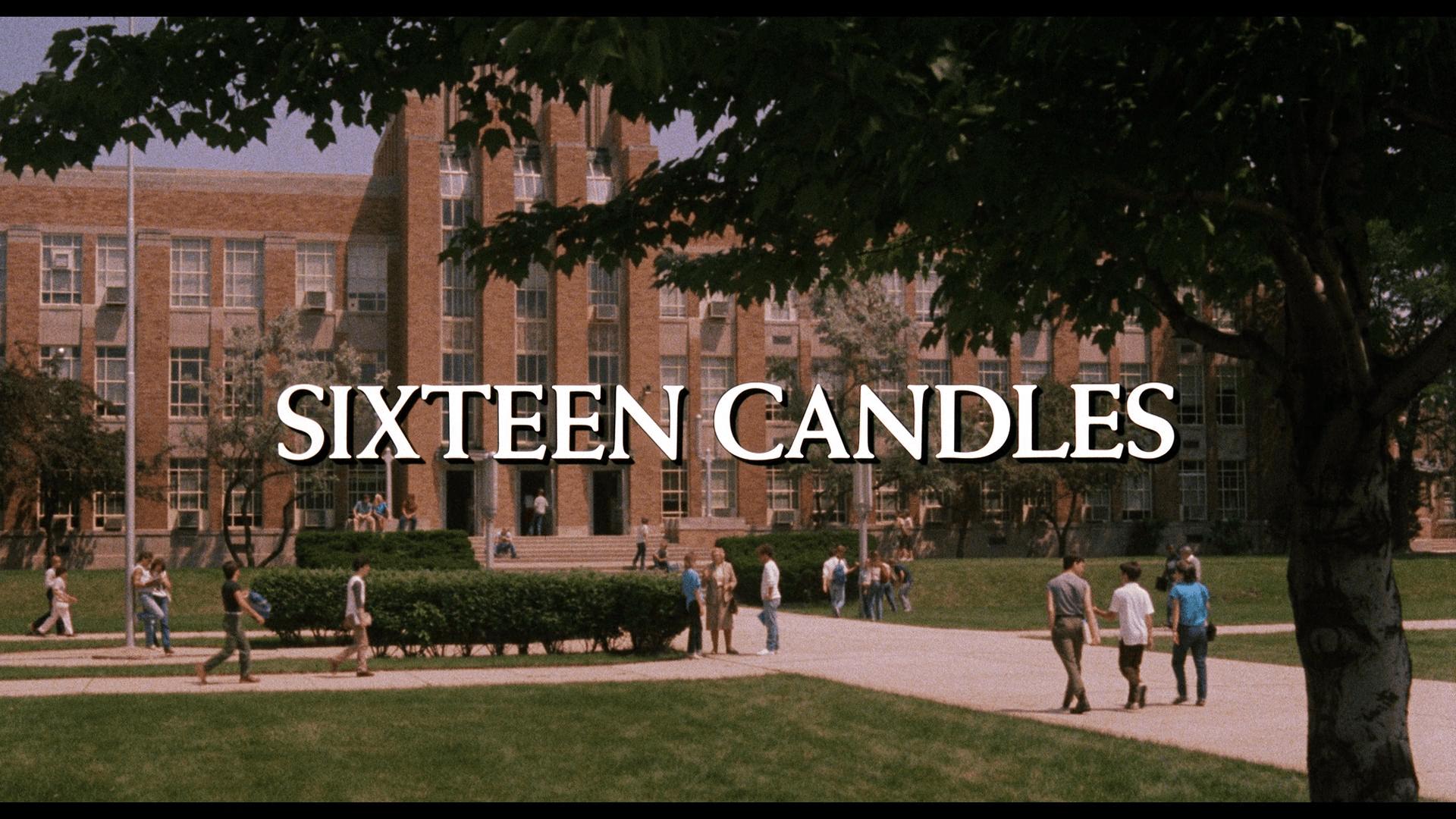 sixteen candles title card arrow blu-ray