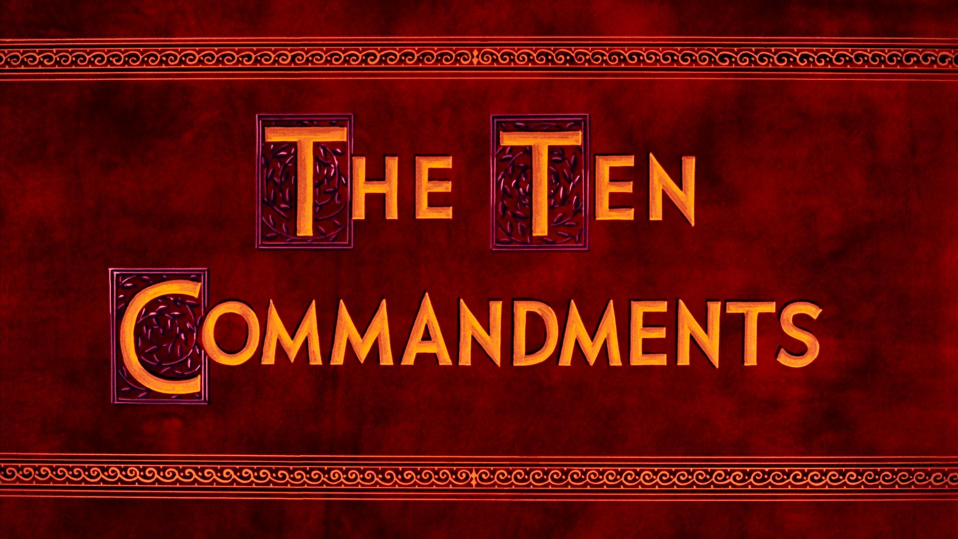 The Ten Commandments 1956 blu-ray 2020
