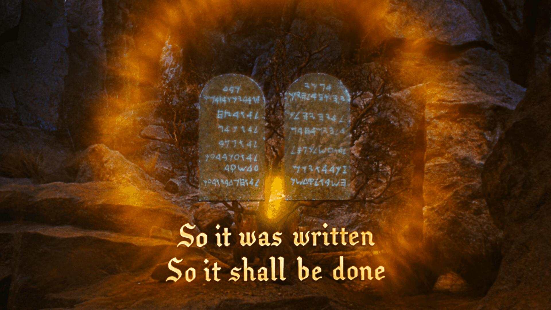 The Ten Commandments floating commandments of biblical law 2020 Blu-ray Paramount.