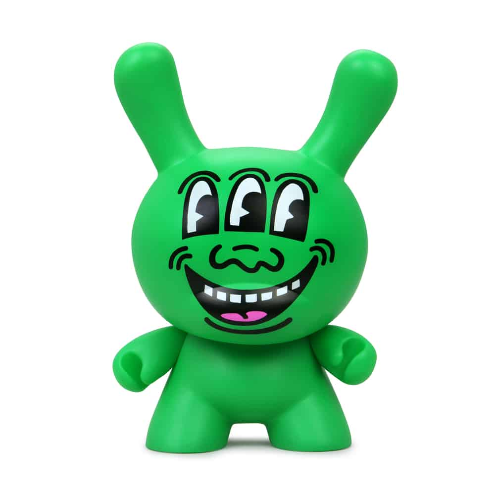 """Kidrobot Announces the Keith Haring Masterpiece Three Eyed Face 8"""" Dunny 4"""