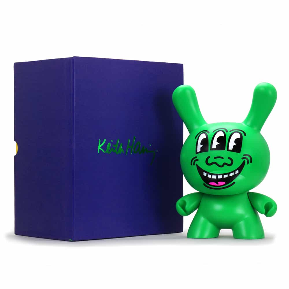 """Kidrobot Announces the Keith Haring Masterpiece Three Eyed Face 8"""" Dunny 2"""