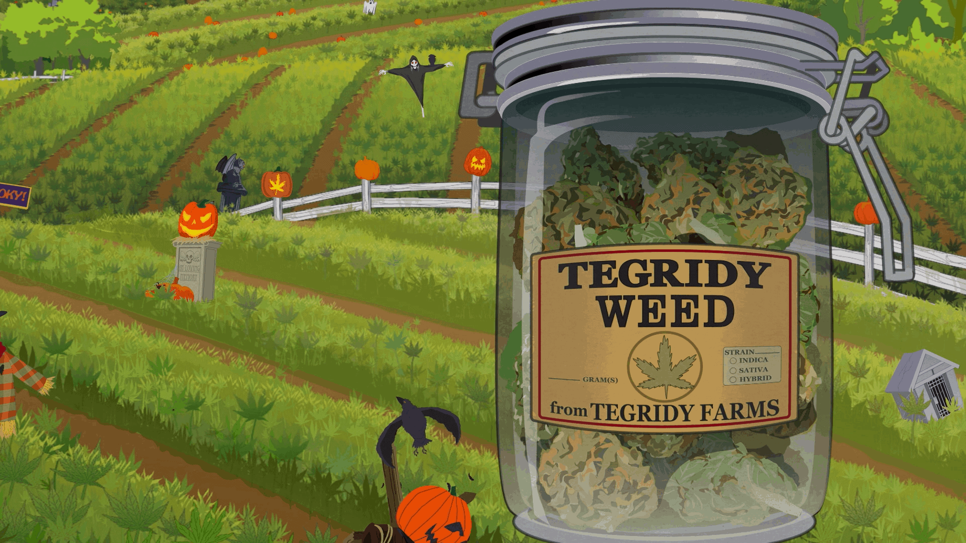 south park season 23 title card tegridy farms