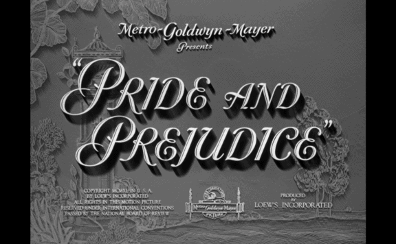 pride and prejudice 1940 warner archive