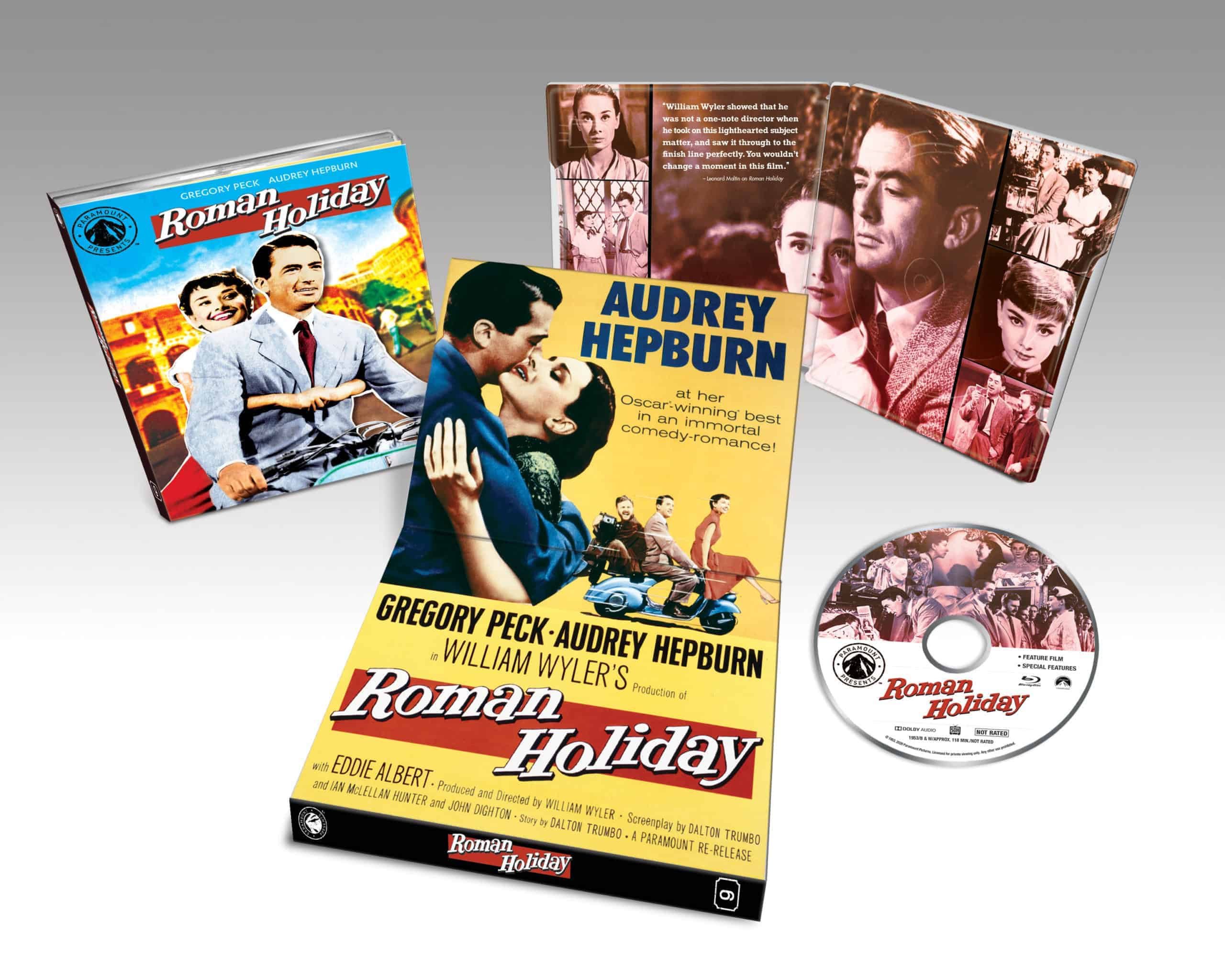 ROMAN HOLIDAY- remastered classic debuts on Blu-ray September 15th 2