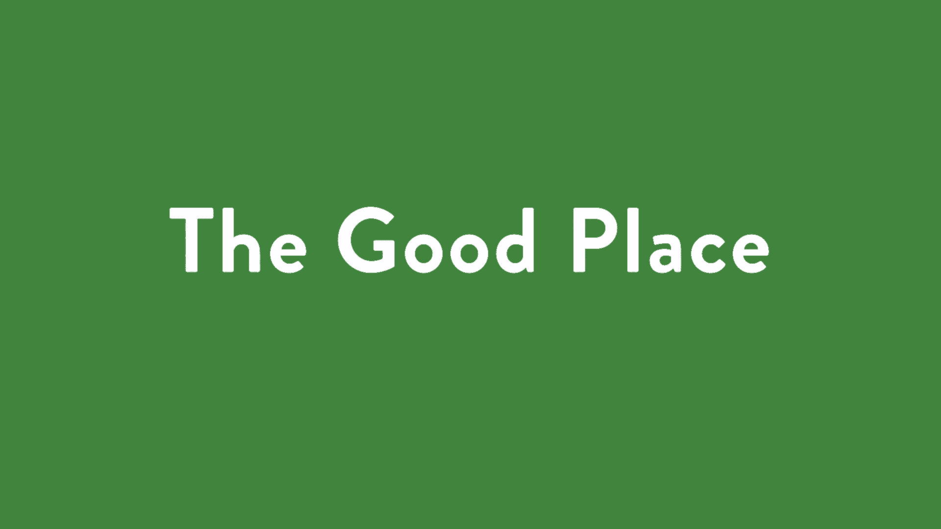 the good place tv series title