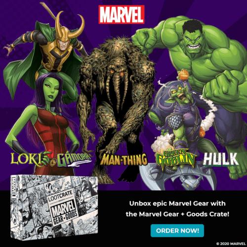 Hulk smashes loot crate