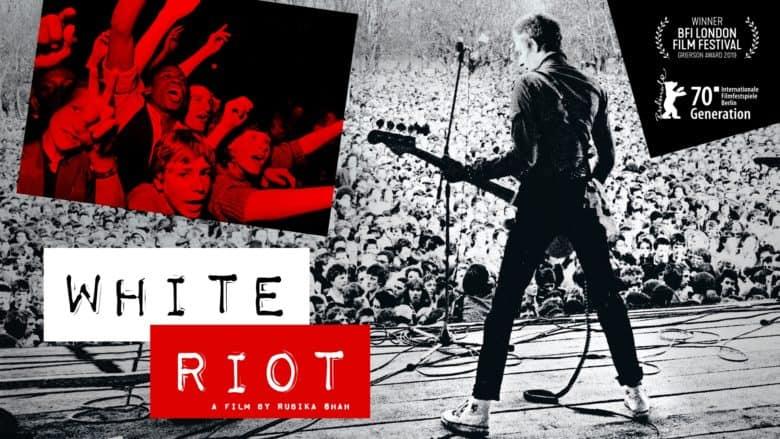white riot poster