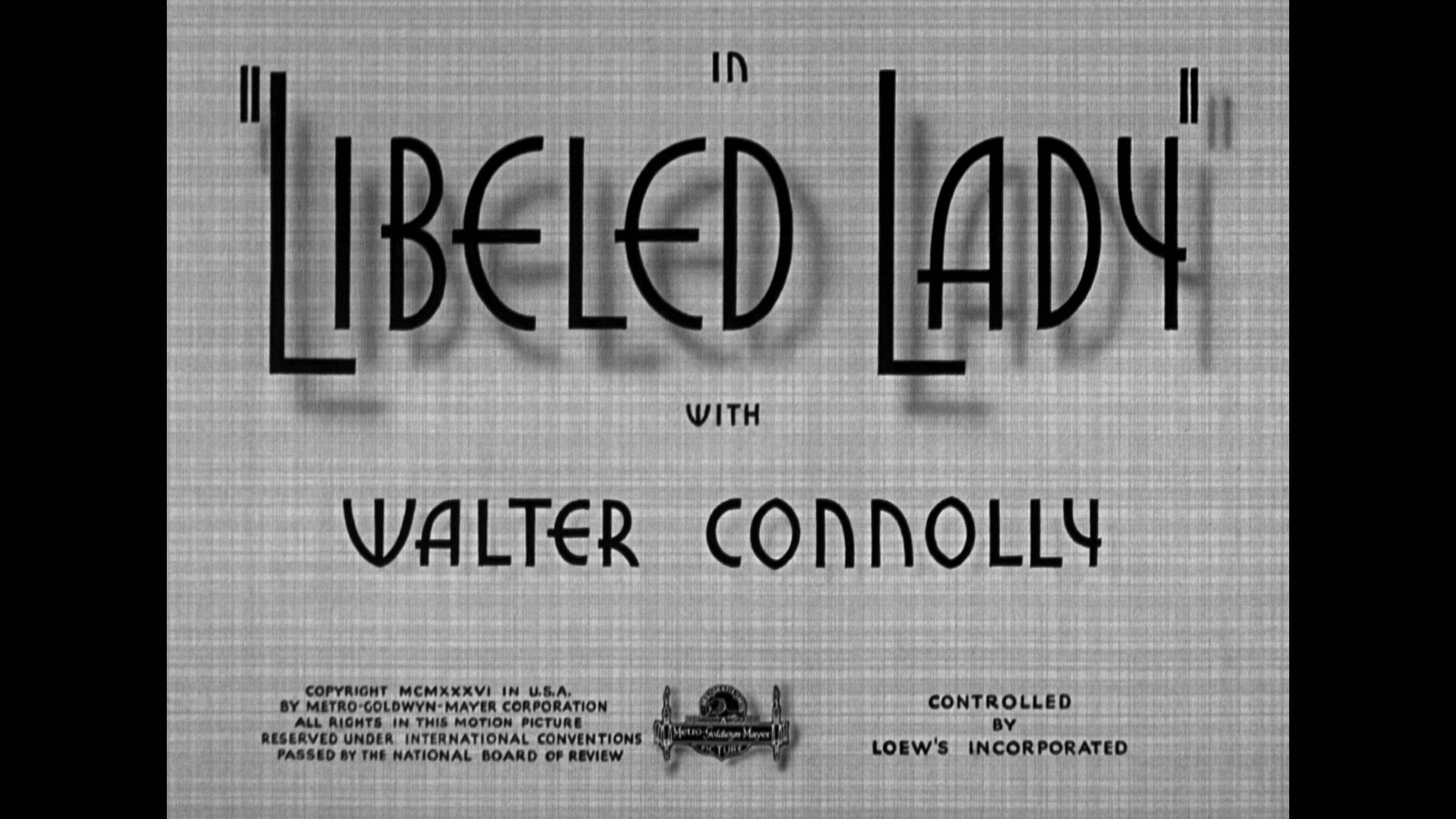 libeled lady warner archive title