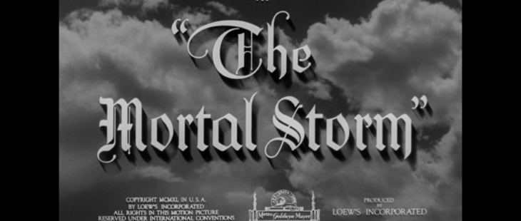 the mortal storm title warner archive